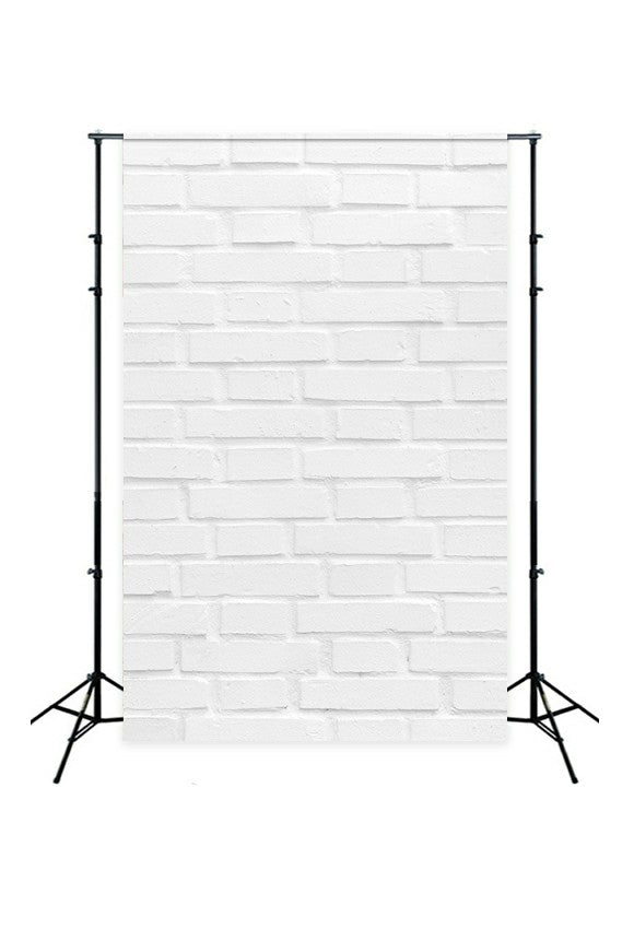 White Textured Brick Wall Photography Backdrop D-240