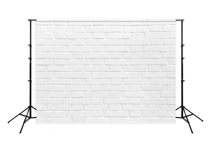 White Brick Wall Texture Photography Backdrops for Studio D349