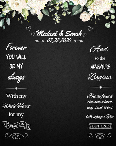 Custom Weeding Backdrop Personized Photography Weeding Decorations Backdrop D530