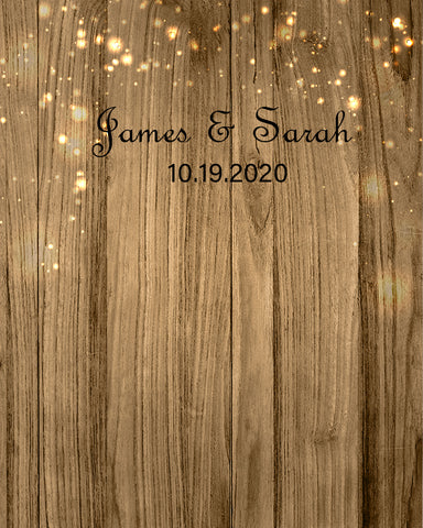 Personized Weeding Backdrop Wood Photography wedding Photo Booth Backdrop D534