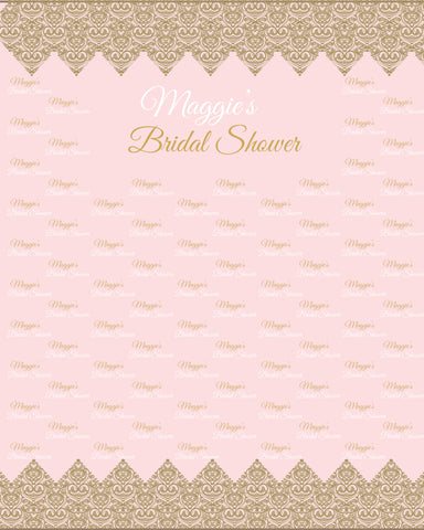 Pink Weeding Custom  Repeating Photography Photo Booth Backdrop D537