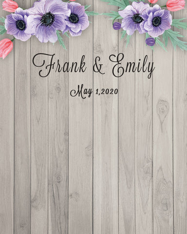 Custom Weeding Wood Texture Photography Backdrop D541