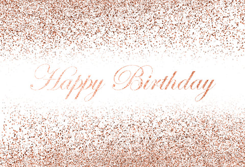 Champagne Happy Birthday Customize Photography Backdrop D609