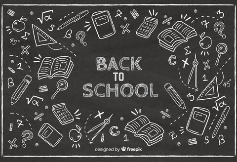 Back to School Backdrop Chalk Drawing Chalkboard Showroom D642