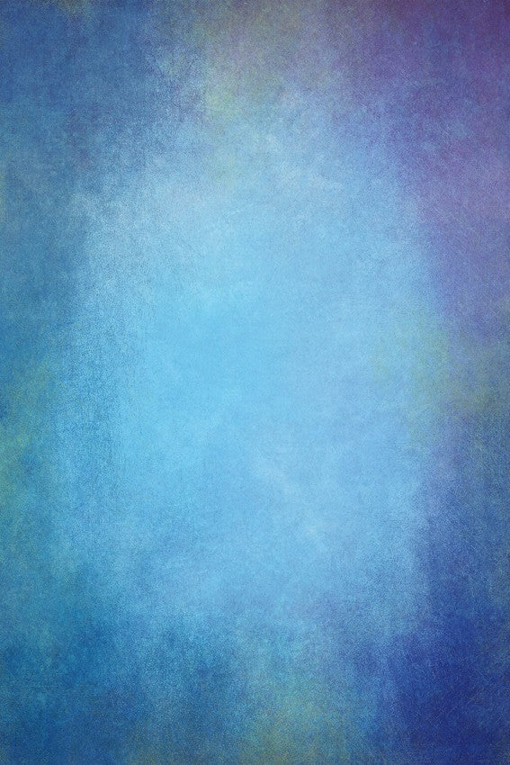 Blue Painted Muslin Fabric Cloth Studio Backdrop