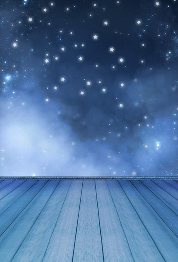 Night Sky Starry Stars Backdrop for Photo Booth F-099