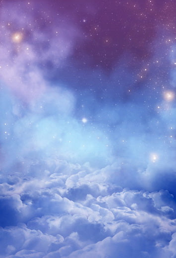 Night Sky Twinkle  Stars Clouds Backdrop for Photo Studio F-100