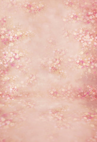 Pink Floral Backdrop for Baby Children Newborn Photography F-139