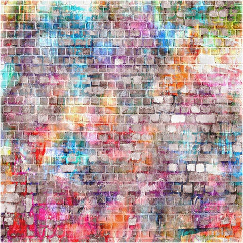 Colorful Graffiti Brick Wall Photography Backdrops F-1589