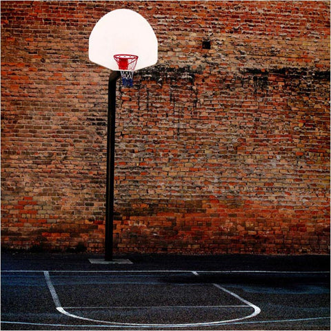 Red Brick Wall Basketball Stand Photo Backdrops F-1590