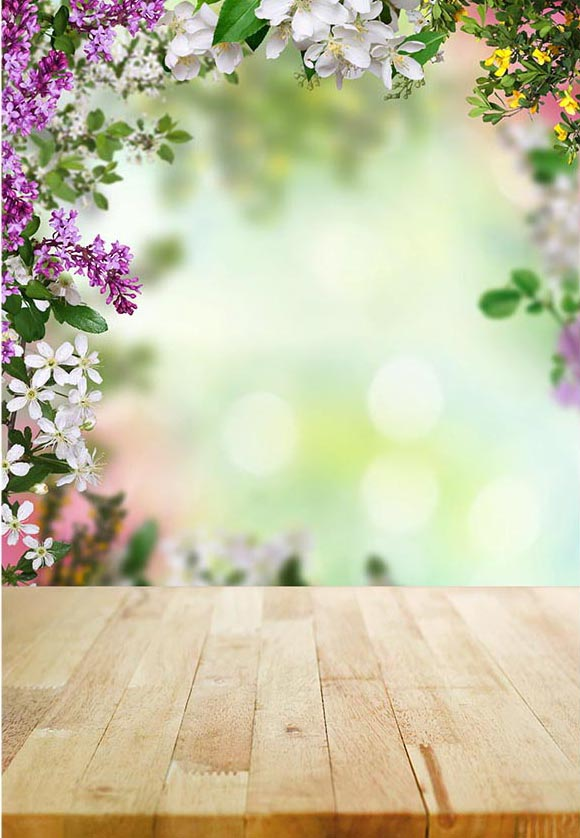 Beautiful Spring Natural Scenery Backdrop for Photography F-2357