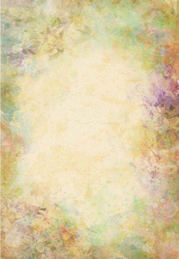 Brown Abstract Flower Portrait Photography Backdrop for Studio F-2366