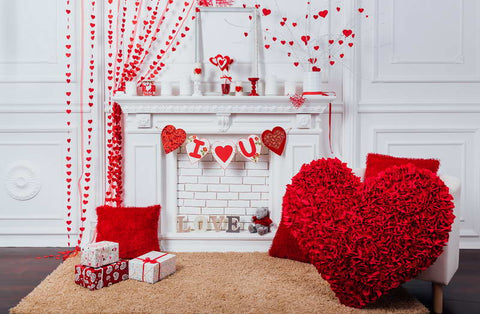 Valentine's Day Decoration White House Photo Backdrops F-2927