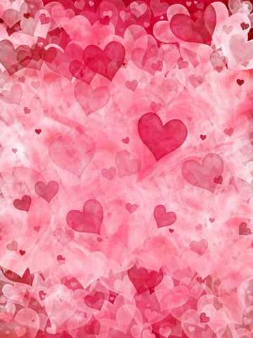 Love Heart Valentine's Day Backdrop for Photo Booth F-2948