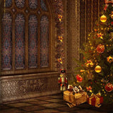 Christmas Tree Gift Room Backdrop for Photo G-023