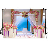 Wedding Backdrop Wedding Ceremony Backdrop Flower Backgrounds G-151