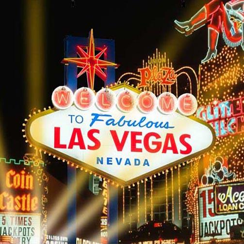Night Las Vegas City Photo Booth Backdrop G-165