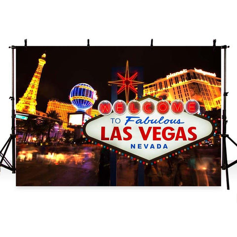 Las Vegas Night Scene Photography Backdrops G-175