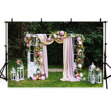 Wedding Backdrops Wedding Ceremony Backdrops Pink Backgrounds G-197