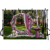 Wedding Backgrounds Wedding Ceremony Backdrops Flowers Backdrops G-199