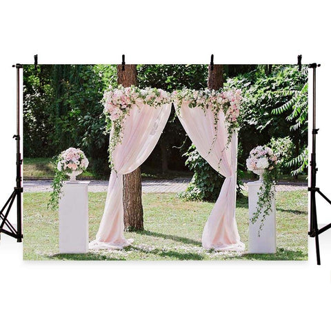 Wedding Background Wedding Ceremony Backdrop Flowers Backdrops G-200