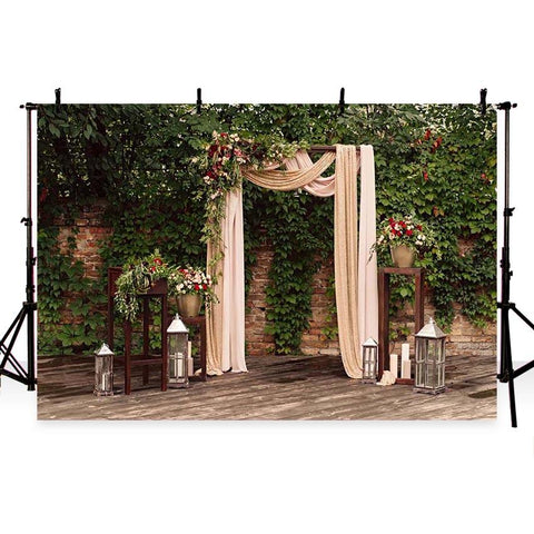 Wedding Backdrops Green Background G-205