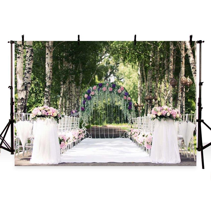 Wedding Backdrops Trees Backdrops Flowers Background G-207