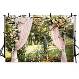 Wedding Background Flowers Backdrops Pink Backdrop G-214