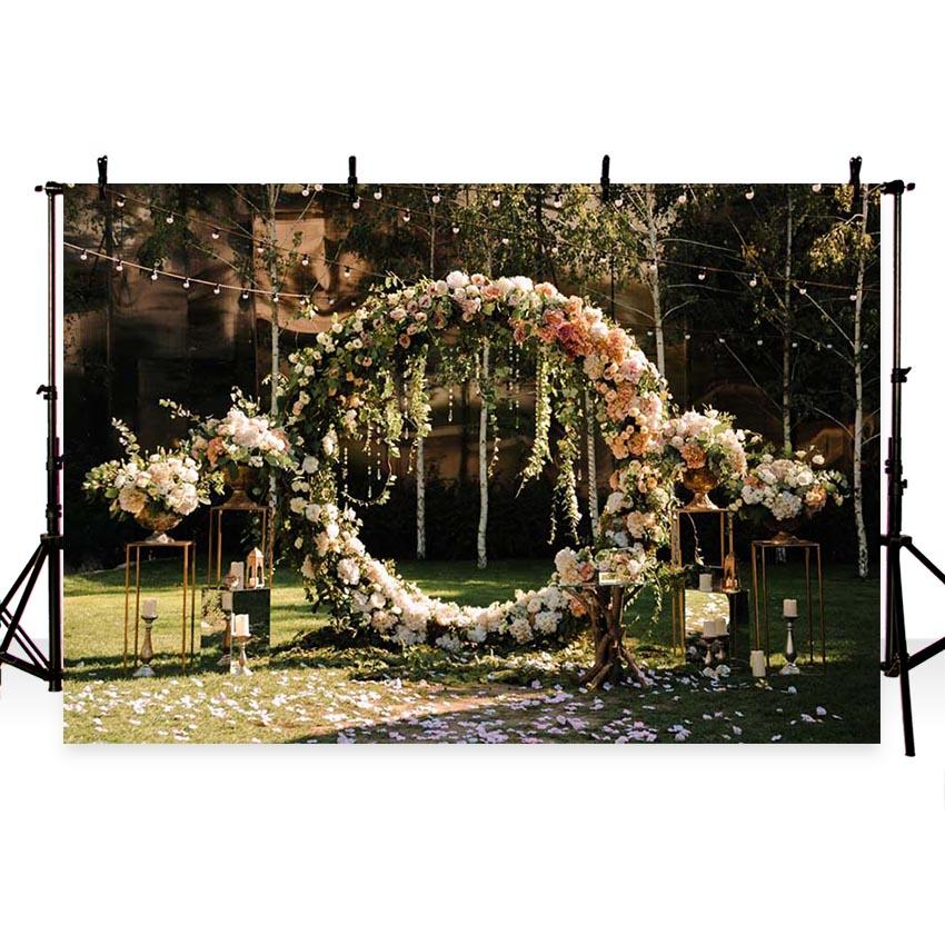 Wedding Background Flowers Backdrop G-215
