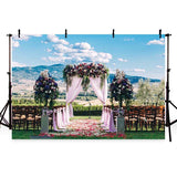 Wedding Backdrops Flowers Backdrops Sky Background G-217