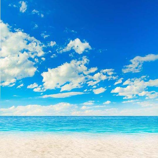 Blue Sky Ocean Summer Backdrop for Photo Booth G-252