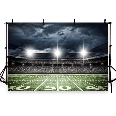 Football Field Night Stadium Photo Booth Backdrops G-261