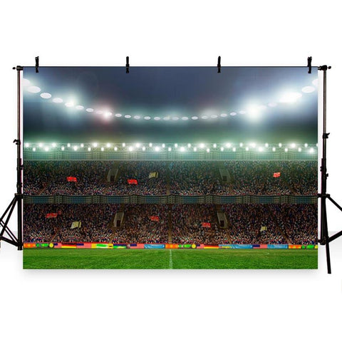 Footable Field Green Lawn Lights Sport Photo Backdrops G-264