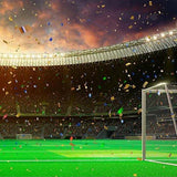 Footable Field Evening Stadium Championship Win Confetti Tinsel Backdrop for Party