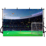 Football Backdrop Soccer Field Champion Confetti Photo Backdrop G-268