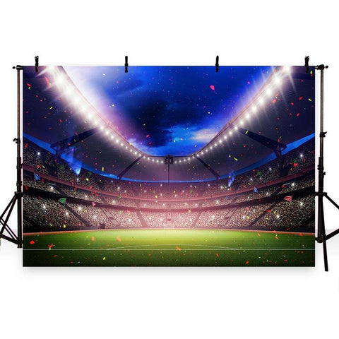 Soccer Court Backdrops Confetti Lights Sport Photography Background G-273