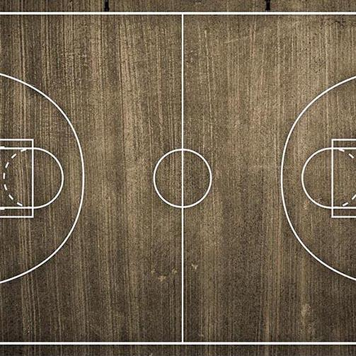 Basketball Court Graphisc Wood Floor Photo Backdrops G-288
