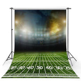 Green Lawn Football Field Gym Lights Blurry Backdrops G-301