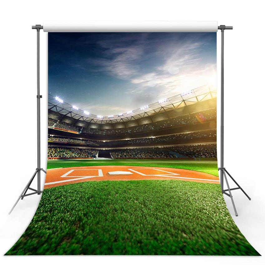 Baseball Field Green Photo Booth Backdrop G-311