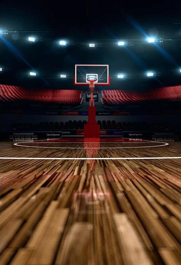 Basketball Night Gym Sports Backdrop for Photography G-313