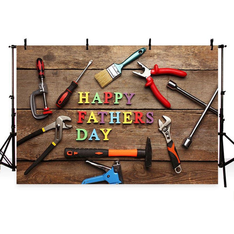Father's Day Backdrop Brown Backdrop Wood Background G-333