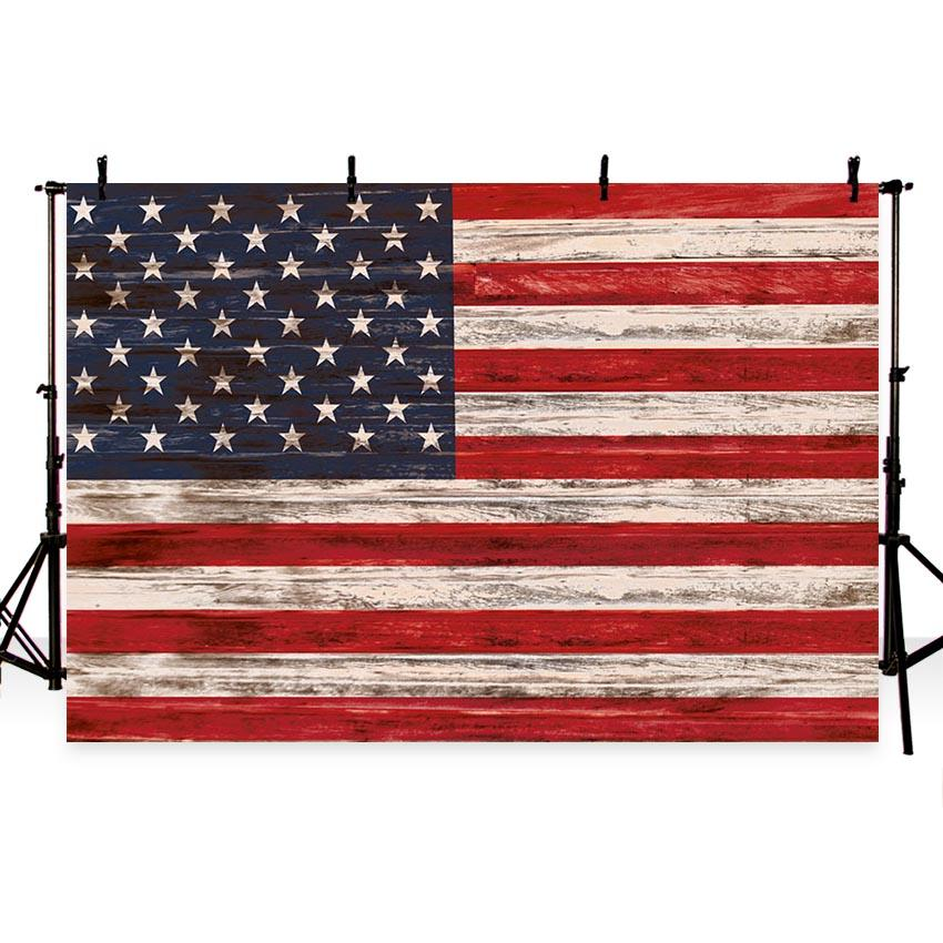 4th of July American Flag Independence Day Backdrop for Photography G-341