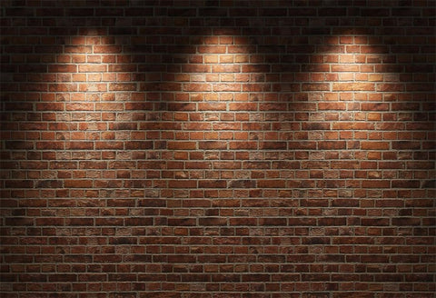 Red  Vintage Brick Wall Lights Photography Backdrops  G-34