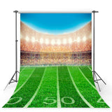 Football Field Stadium Green Lawn Photo Backdrops G-355