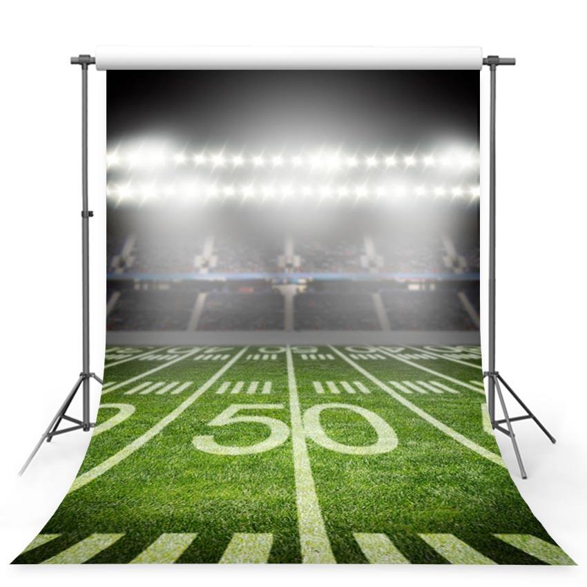 Football Field Stadium Night Lights Sport Photography Backdrops G-359