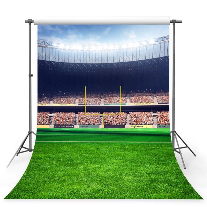 Stadium Green Grass Sports Backdrop for Photos G-364