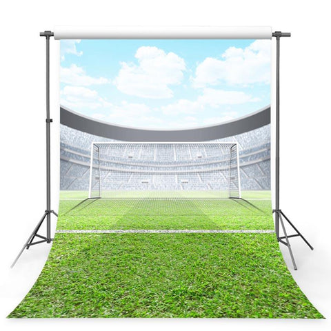 Football Field Goal Net Green Grass Sport Backdrop for Pictures G-375