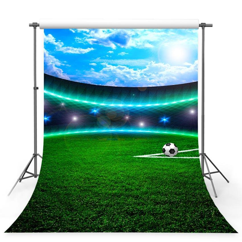 Football Soccer Field Sport Phoptography Backdrops  G-377