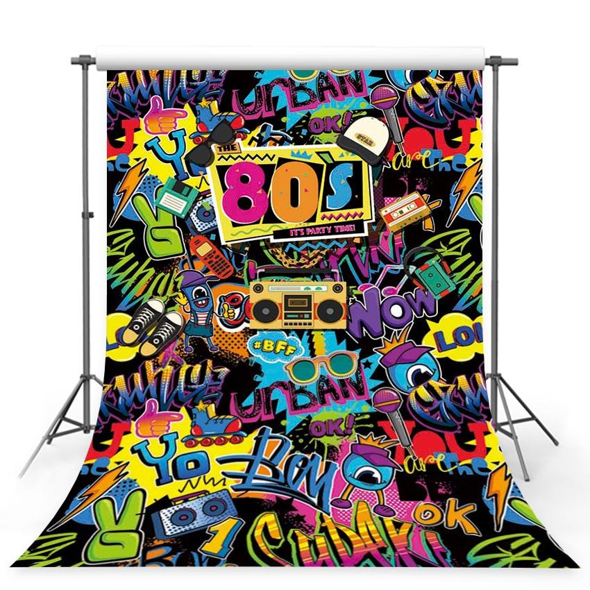 Scenic Backdrops Graffiti Backdrop  Wooden Backgrounds Urban Scenes G-430