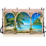 Seaside Blue Ocean Beach  Photo Backdrop G-431